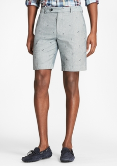 Brooks Brothers Palm Tree Print Chambray Shorts