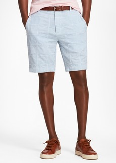 Brooks Brothers Patchwork Seersucker Bermuda Shorts