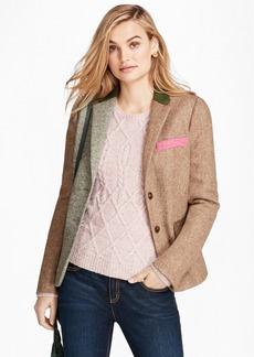Brooks Brothers Patchwork Wool Tweed Jacket