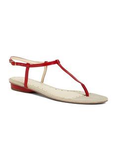 Brooks Brothers Patent Kidskin T-Strap Sandal