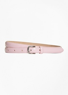 Brooks Brothers Patent Leather Skinny Belt