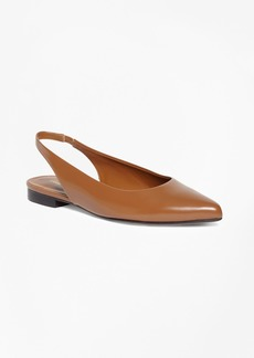 Brooks Brothers Patent Leather Sling-Back Flats