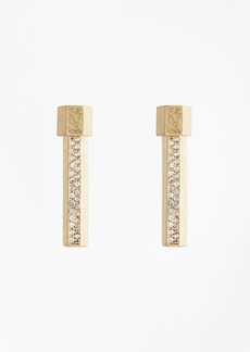 Brooks Brothers Pave Bar Stud Earrings
