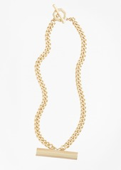 Brooks Brothers Pave Detail Bar Necklace
