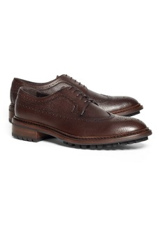Brooks Brothers Pebble Leather Wingtips