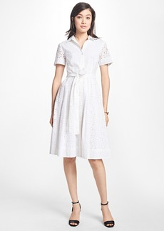 Brooks Brothers Petite Cotton Eyelet Shirt Dress