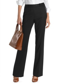 Brooks Brothers Petite Plain-Front Caroline Fit Gabardine Dress Trousers