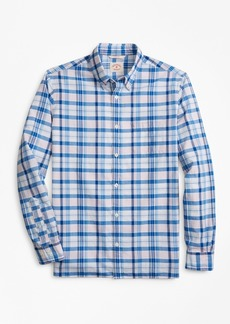 Brooks Brothers Plaid Madras Sport Shirt