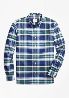 Brooks Brothers Plaid Oxford Cotton Sport Shirt