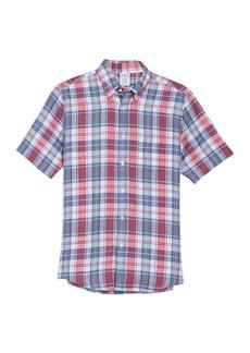 Brooks Brothers Plaid Short Sleeve Regent Fit Linen Shirt