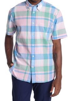 Brooks Brothers Plaid Short Sleeve Sport Fit Shirt