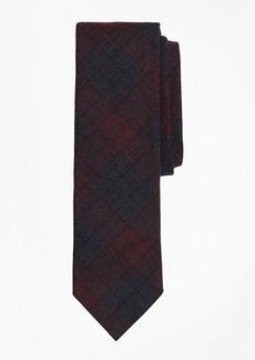 Brooks Brothers Plaid Stretch Cotton Slim Tie