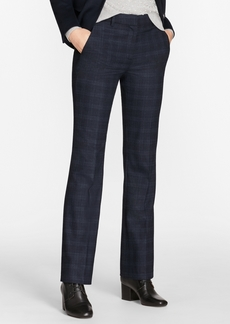 Brooks Brothers Plaid Stretch-Wool Pants