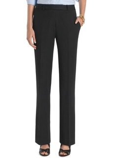 Brooks Brothers Plain-Front Caroline Fit Fluid Stretch Dress Trousers