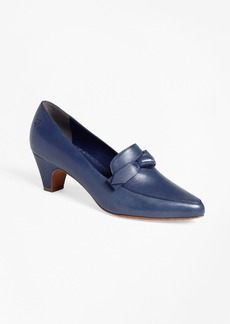 Brooks Brothers Point-Toe Leather Pumps