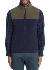 Brooks Brothers Colorblock Polar Fleece Zip Vest