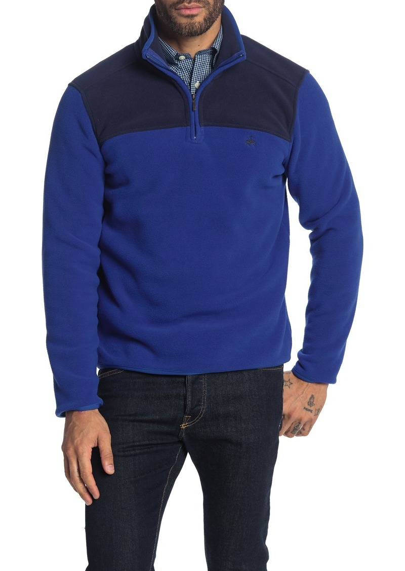 Brooks Brothers Colorblock Quarter Zip Polar Fleece Pullover