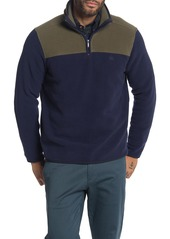 Brooks Brothers Colorblock Quarter Zip Polar Fleece Pullover