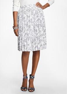 Brooks Brothers Printed Pleated Skirt