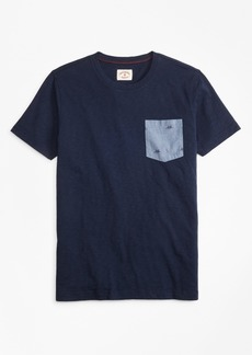 Brooks Brothers Printed Slub Cotton Pocket T-Shirt