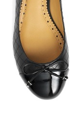Brooks Brothers Quilted Calfskin & Patent Flat