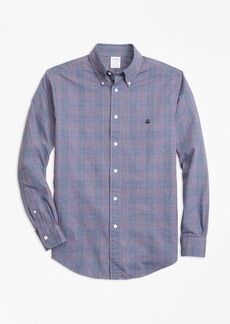 Brooks Brothers Regent Fit Brushed Oxford Glen Plaid Sport Shirt