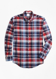 Brooks Brothers Regent Fit Multi Madras Sport Shirt