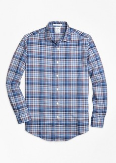Brooks Brothers Regent Fit Plaid Melange Sport Shirt