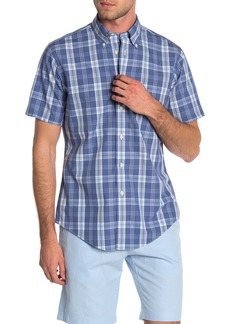 Brooks Brothers Regent Plaid Short Sleeve Slim Fit Shirt