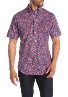 Brooks Brothers Hawaiian Print Short Sleeve Regular Fit Shirt