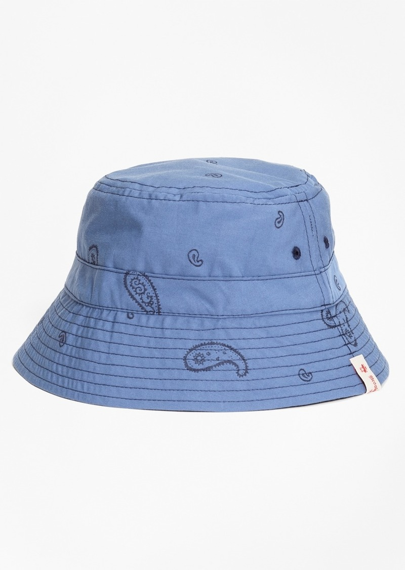 9aafd6e99fd SALE! Brooks Brothers Reversible Paisley Cotton Jacquard Bucket Hat