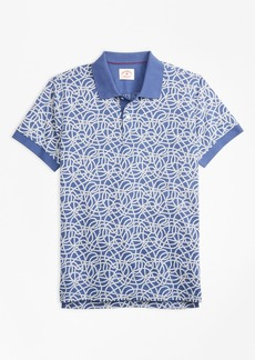 Brooks Brothers Rope-Print Cotton Jersey Polo Shirt