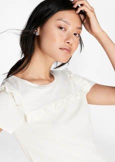 Brooks Brothers Ruffle-Trimmed T-Shirt