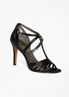 Brooks Brothers Satin High-Heeled Sandals