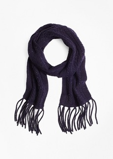 Brooks Brothers Saxxon™ Wool Cable Knit Scarf