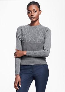 Brooks Brothers Saxxon Wool Crew Neck Sweater