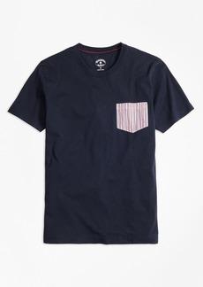 Brooks Brothers Seersucker-Pocket Cotton T-Shirt