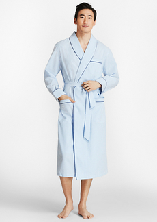 Brooks Brothers Seersucker Robe
