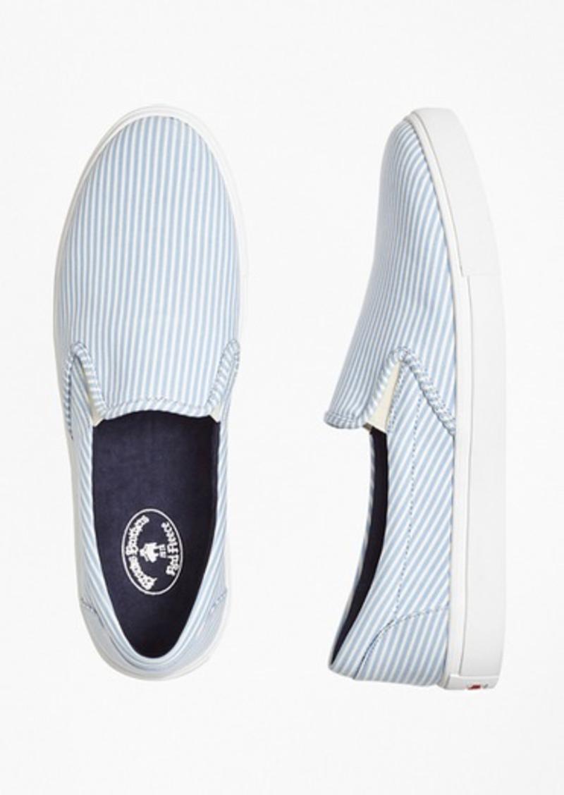 d007a33c584 Brooks Brothers Seersucker Slip-On Sneakers