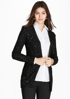 Brooks Brothers Sequined Merino Wool Cardigan