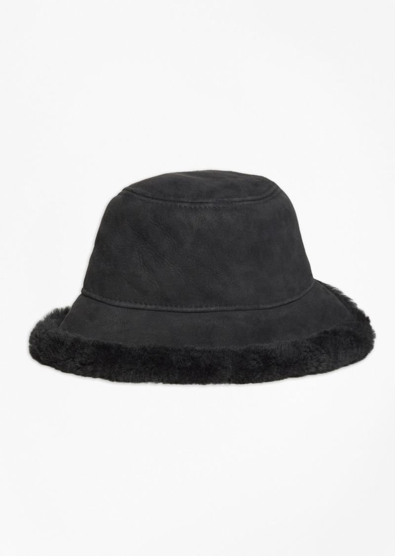 Brooks Brothers Shearling Bucket Hat  9153099e962