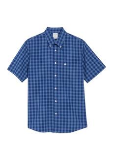 Brooks Brothers Short Sleeve Check Print Regular Fit Shirt