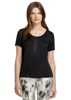 Brooks Brothers Short-Sleeve Silk Blouse