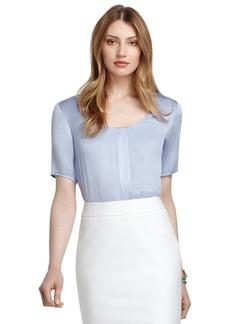 Brooks Brothers Short-Sleeve Silk Blouse