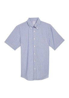 Brooks Brothers Short Sleeve Stripe Print Regent Fit Shirt