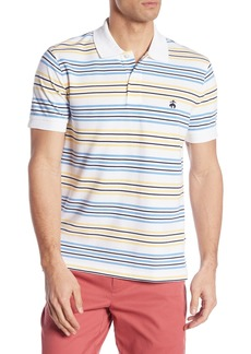 Brooks Brothers Short Sleeve Stripe Slim Fit Polo