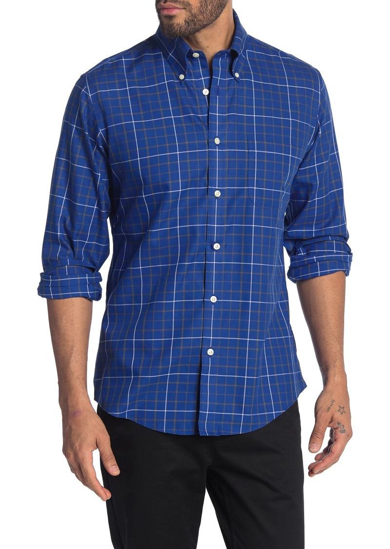 Brooks Brothers Signature Tattersal Long Sleeve Regent Fit Shirt