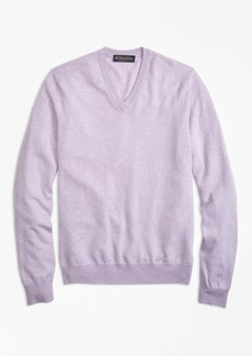 Brooks Brothers Silk and Cashmere V-Neck Sweater