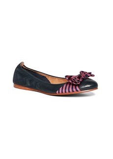 Brooks Brothers Silk Bow Ballet Flats