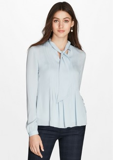 Brooks Brothers Silk Georgette Tie-Neck Blouse